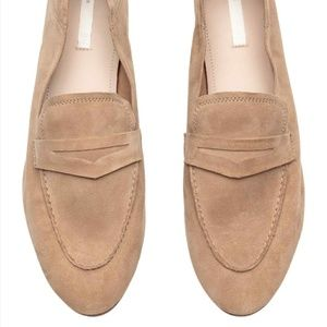 Suede leather loafers beige premium quality H&M